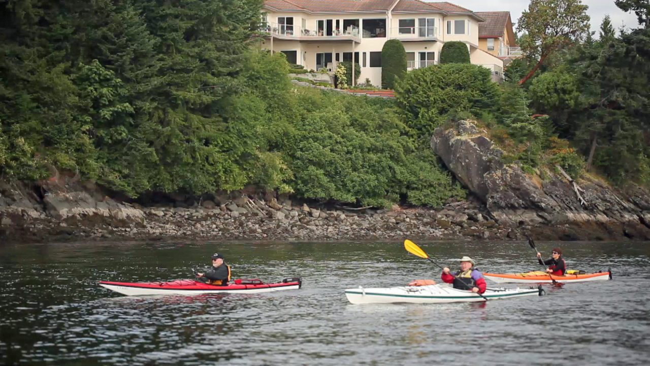 Kayaking in Front of Arbutus Ridge
