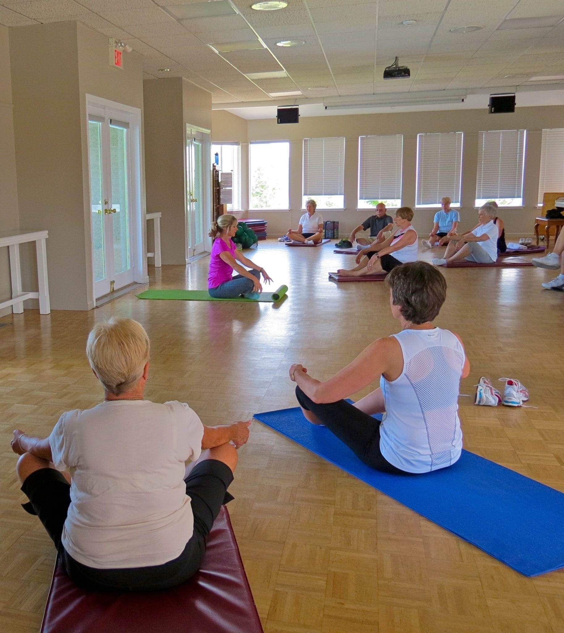 Organized Fitness Classes including Pilates, Aerobics, Yoga