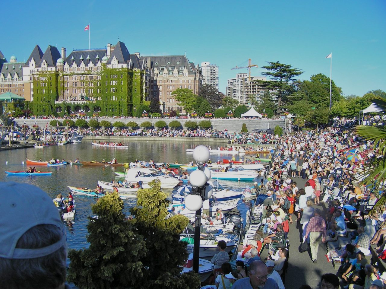 "Victoria Symphony ""Splash"" Event. Kayakers enjoy a day on the water with the Symphony playing in the background."